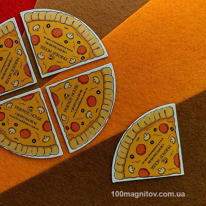 Піца на магнітах. Виготовлення магнітів довільної форми
