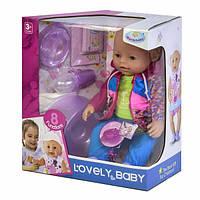 Пупс мальчик функциональный интерактивный Warm Baby 42 см кукла с горшком и аксессуарами для девочки (9960)