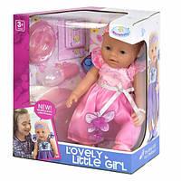 Пупс фея функциональный в розовом платье Warm Baby 42 см интерактивный кукла с горшком и аксессуарами (34946)