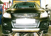 Декоративно-защитная сетка радиатора Suzuki SX4 бампер, фото 1