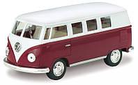 Машинка железная Kinsmart  Volkswagen Classical Bus (бордовая, желтая) арт. 808
