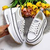 Кроссовки женские белые натуральная кожа сетка весна- лето- осень, фото 8