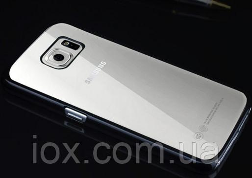Пластиковый черный чехол для Samsung Galaxy S6