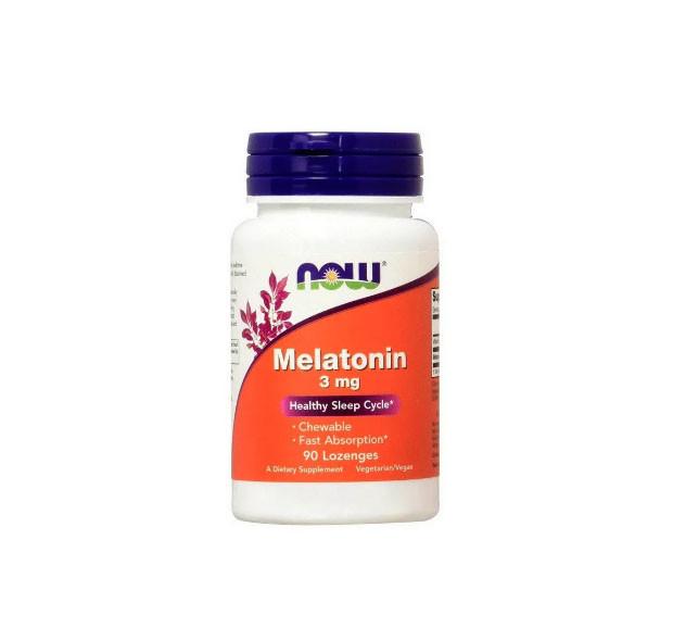 Біологічно Активні Добавки Now Foods Melatonin Нау Фудс Мелатонін 3 мг для сну 90 таблеток жувальних США