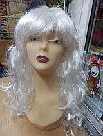 Парик карнавальный длинный белый