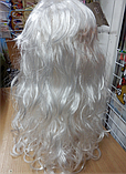 Парик карнавальний довгий білий, фото 2