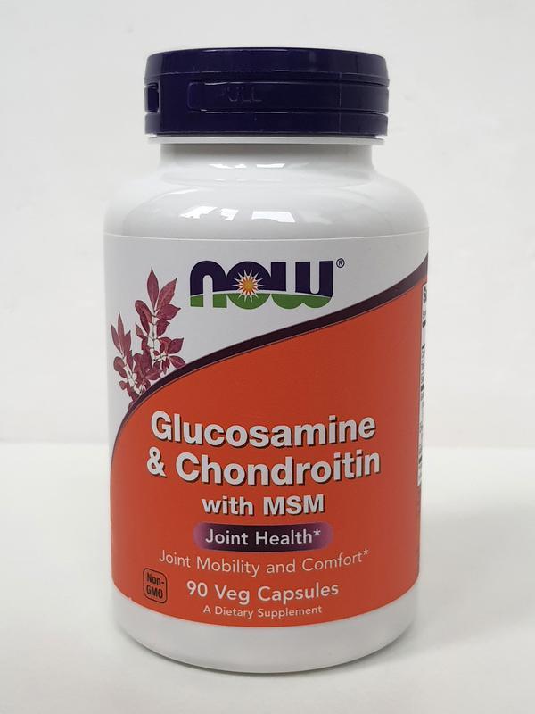 Now Foods Glucosamine & Chondroitin with msm Нау Фудс глюкозамин и хондроитин Для суставов и связок 90 капсул