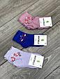 Шкарпетки дитячі бамбукові Montebello з мереживною гумкою з фламінго для дівчаток 5,7,9,11р 12 шт в уп мікс кол, фото 5