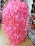 Парик карнавальний довгий рожевий, фото 2