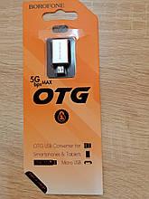 Перехідник OTG Borofone BV2 Micro