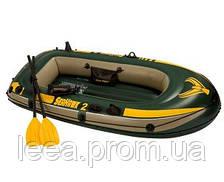 Надувная лодка SEAHAWK 2 SET, до 200 кг 236Х114Х41 см с веслами и насосом