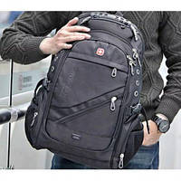 Рюкзак мужской Швейцарский SwissGear 8810 USB, черный, 56л, водозащищенный, Городской рюкзак, Swissgear