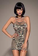 Платье из сетки в стиле милитари Obsessive D604 dress