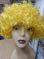 Парик  кучерявый желтый, фото 1