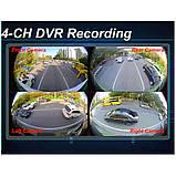 Парковочная система кругового обзора на 360° Видеопарктроник Around View видеопарковка с ночным видением, фото 5