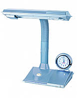 Лампа настольная светодиодная серебрянная (настольная лампа серебрянная) часы G23,Watc