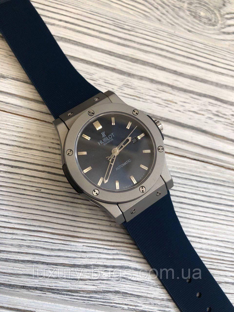 Годинники наручні Hubl0t 5826 Classic Fusion Automatic Blue-Silver-Mate-Blue
