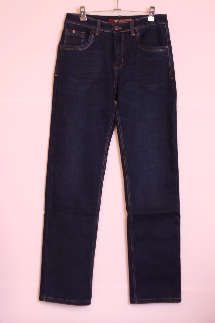Мужские утепленные джинсы на флисе