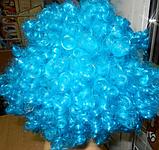 Кучерявий Парик блакитний, фото 2