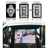Парковочная система кругового обзора на 360° Видеопарктроник Around View видеопарковка с ночным видением, фото 9