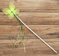 Волшебная палочка ФЕИ с мишурой зеленая