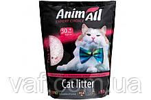 Силикагелевый наполнитель AnimAll Розовый лепесток для котов, 3.8 л (1.6 кг)