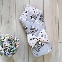 Хлопковый конверт-одеяло на выписку со съемным утеплителем