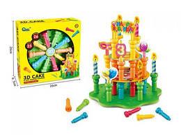 "Дитячий Конструктор-мозаїка ""Торт"", 25 кнопок, 26 картонок HC273252"