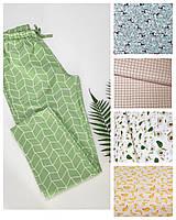 Пижамно-домашние штаны с узором из натурального хлопка для женщин/девушек