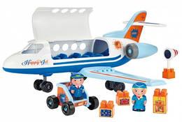 """003155 Конструктор """"Літак"""" з людьми та вантажем, 30 елем., 18міс.+"""