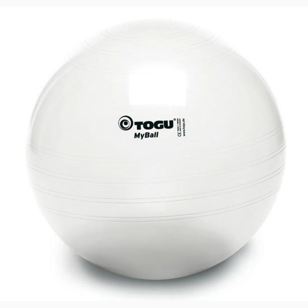 Мяч фитнес TOGU 65 см, MyBall, белый (White)