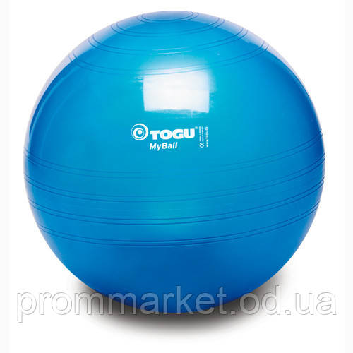 М'яч фітнес TOGU 75 см, MyBall, синій (Blue Transparent)