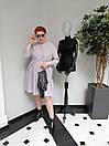 Платье женское Барби серое ADRESS MKAD6759, фото 2