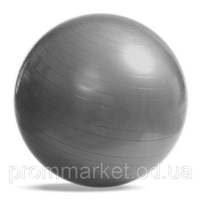 М'яч фітнес 65 см, глянець, сірий. Знижка від 20 шт.