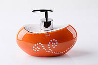 Дозатор для жидкого мыла настольный оранжевый