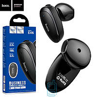 Bluetooth гарнитура Hoco E46 черные, наушник для водителя в авто, беспроводная, с микрофоном