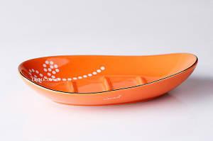 Мыльница для ванной оранжевая