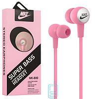 Наушники с микрофоном Nike NK-800 розовые