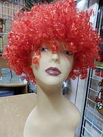 Парик карнавальный кучерявый красный
