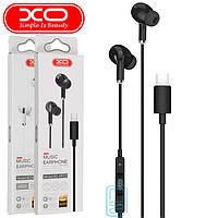 Наушники с микрофоном XO EP23 Type-C черные