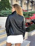 Куртка жіноча натуральна *ADAMO*, шкіра теляча преміум, розмір С,М,Л,ХЛ,білий,чорний колір, фото 7