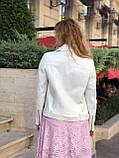 Куртка жіноча натуральна *ADAMO*, шкіра теляча преміум, розмір С,М,Л,ХЛ,білий,чорний колір, фото 9