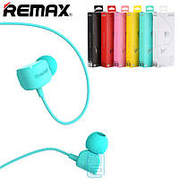 Наушники с микрофоном Remax RM-502 Crazy Robot голубые
