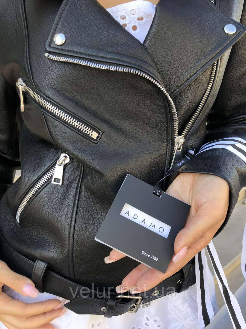 Куртка женская натуральная *ADAMO*, кожа телячья премиум, размеры С,М,Л,ХЛ,белый,черный цвет