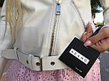 Куртка женская натуральная *ADAMO*, кожа телячья премиум, размеры С,М,Л,ХЛ,белый,черный цвет, фото 8