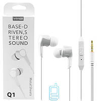 Наушники с микрофоном Sonic Sound Q1 белые