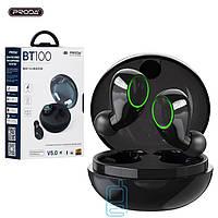 Bluetooth наушники с микрофоном Proda PD-BT100 TWS черные
