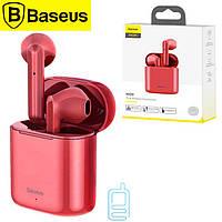 Bluetooth наушники с микрофоном Baseus Encok NGW09 TWS красные