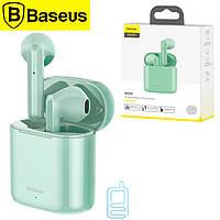 Bluetooth наушники с микрофоном Baseus Encok NGW09 TWS бирюзовые