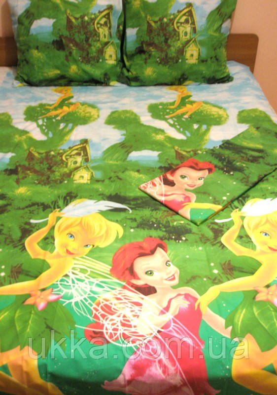 Детское постельное белье полуторное Феи Динь-Динь комплект подростковый